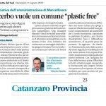 Gazzetta del Sud_plastic free_11 agosto 2019